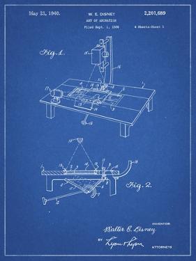 PP403-Blueprint Disney Multi Plane Camera Patent Poster by Cole Borders