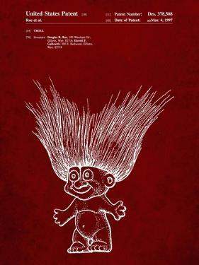 PP406-Burgundy Troll Doll Patent Poster by Cole Borders