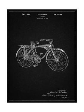 PP446-Vintage Black Schwinn 1939 BC117 Bicycle Patent Poster by Cole Borders