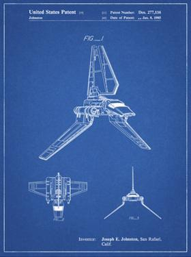 PP449-Blueprint Star Wars Lambda Class T-4a Shuttle Patent Poster by Cole Borders