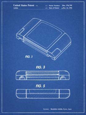 PP451-Blueprint Nintendo 64 Game Cartridge Patent Poster by Cole Borders