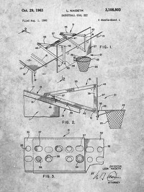 PP454-Slate Basketball Adjustable Goal 1962 Patent Poster by Cole Borders