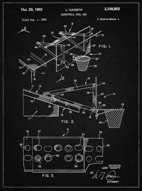 PP454-Vintage Black Basketball Adjustable Goal 1962 Patent Poster by Cole Borders