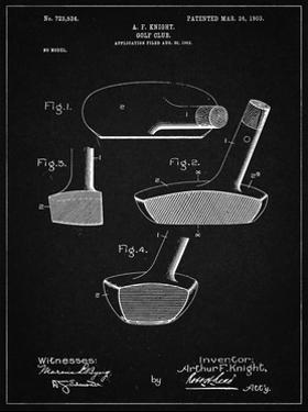 PP475-Vintage Black Antique Golf Putter 1903 Patent Poster by Cole Borders