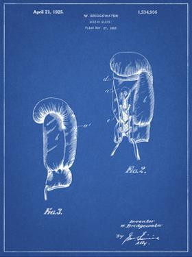 PP517-Blueprint Boxing Glove 1925 Patent Poster by Cole Borders