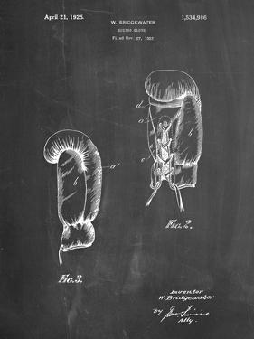 PP517-Chalkboard Boxing Glove 1925 Patent Poster by Cole Borders