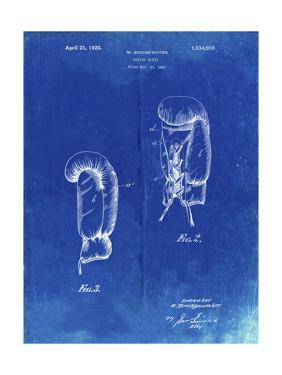 PP517-Faded Blueprint Boxing Glove 1925 Patent Poster by Cole Borders