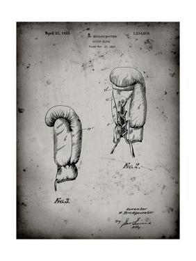 PP517-Faded Grey Boxing Glove 1925 Patent Poster by Cole Borders