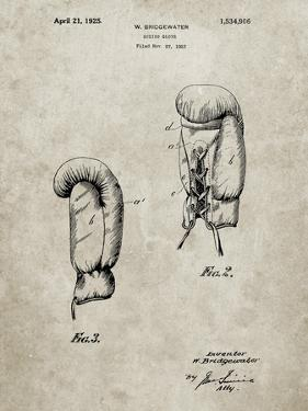 PP517-Sandstone Boxing Glove 1925 Patent Poster by Cole Borders