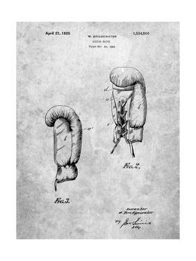 PP517-Slate Boxing Glove 1925 Patent Poster by Cole Borders