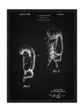 PP517-Vintage Black Boxing Glove 1925 Patent Poster by Cole Borders