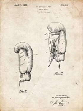 PP517-Vintage Parchment Boxing Glove 1925 Patent Poster by Cole Borders