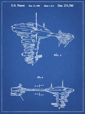 PP529-Blueprint Star Wars Redemption Ship Patent Poster by Cole Borders