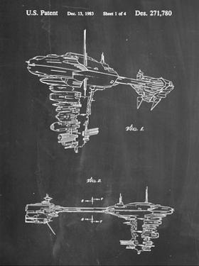 PP529-Chalkboard Star Wars Redemption Ship Patent Poster by Cole Borders