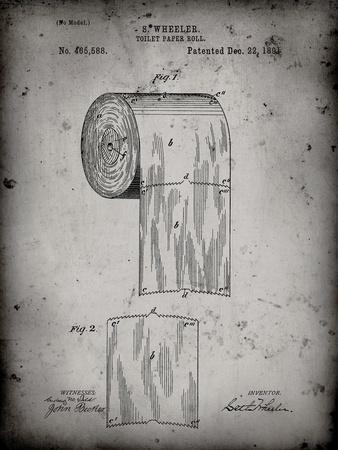 PP53-Faded Grey Toilet Paper Patent
