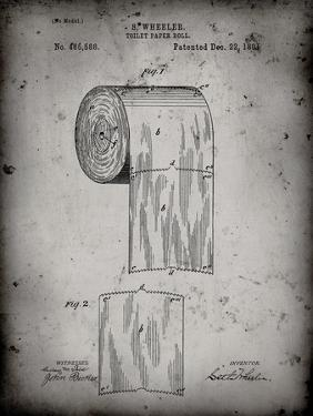 PP53-Faded Grey Toilet Paper Patent by Cole Borders