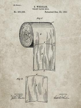 PP53-Sandstone Toilet Paper Patent by Cole Borders