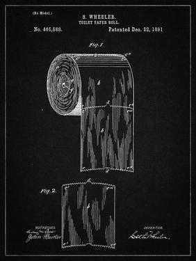 PP53-Vintage Black Toilet Paper Patent by Cole Borders
