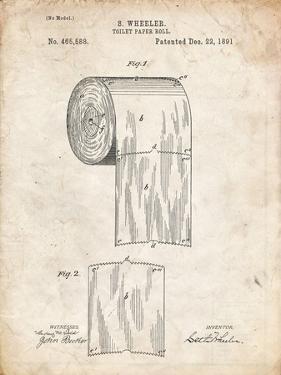 PP53-Vintage Parchment Toilet Paper Patent by Cole Borders