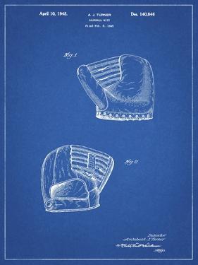 PP538-Blueprint A.J. Turner Baseball Mitt Patent Poster by Cole Borders