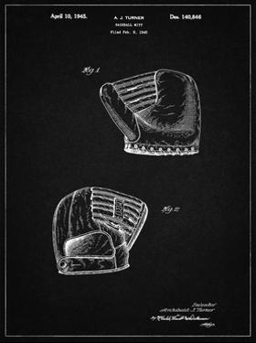 PP538-Vintage Black A.J. Turner Baseball Mitt Patent Poster by Cole Borders