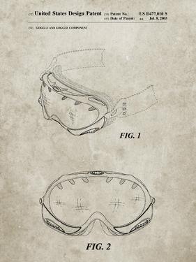 PP554-Sandstone Ski Goggles Patent Poster by Cole Borders