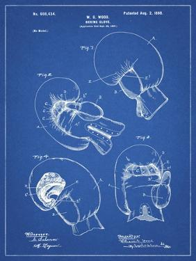 PP58-Blueprint Vintage Boxing Glove 1898 Patent Poster by Cole Borders