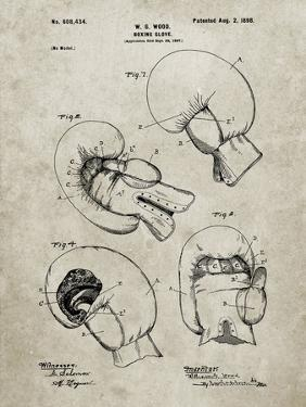 PP58-Sandstone Vintage Boxing Glove 1898 Patent Poster by Cole Borders