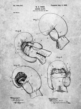 PP58-Slate Vintage Boxing Glove 1898 Patent Poster by Cole Borders