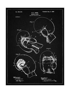 PP58-Vintage Black Vintage Boxing Glove 1898 Patent Poster by Cole Borders