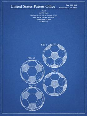 PP587-Blueprint Soccer Ball 4 Image Patent Poster by Cole Borders