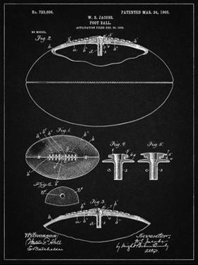 PP601-Vintage Black Football Game Ball 1902 Patent Poster by Cole Borders
