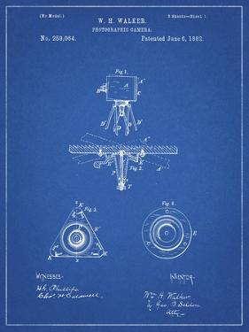 PP609-Blueprint Antique Camera Tripod Head Improvement Patent Poster by Cole Borders