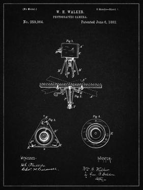 PP609-Vintage Black Antique Camera Tripod Head Improvement Patent Poster by Cole Borders