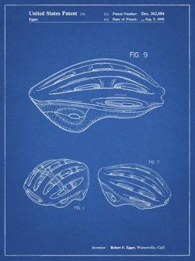 PP610-Blueprint Bicycle Helmet Patent Poster by Cole Borders