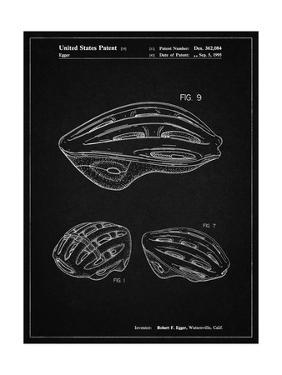 PP610-Vintage Black Bicycle Helmet Patent Poster by Cole Borders
