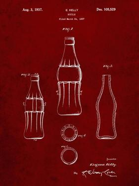 PP626-Burgundy D-Patent Coke Bottle Patent Poster by Cole Borders
