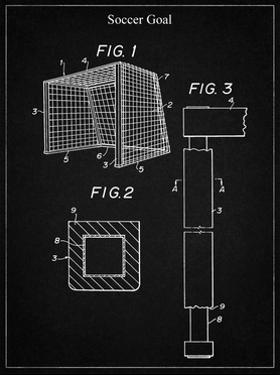 PP63-Vintage Black Soccer Goal Patent Poster by Cole Borders