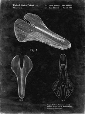 PP637-Black Grunge Bicycle Seat Patent Poster by Cole Borders