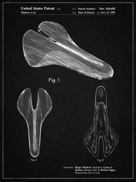 PP637-Vintage Black Bicycle Seat Patent Poster by Cole Borders