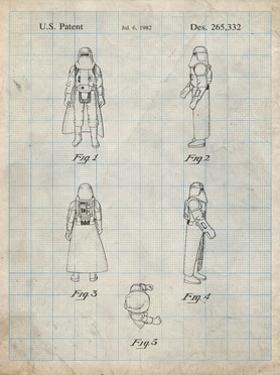 PP645-Antique Grid Parchment Star Wars Snowtrooper Patent Poster by Cole Borders