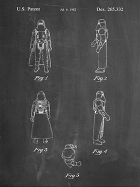 PP645-Chalkboard Star Wars Snowtrooper Patent Poster by Cole Borders