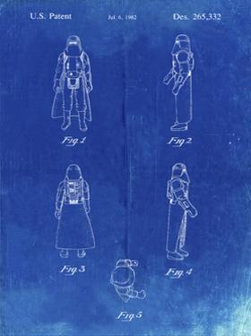 PP645-Faded Blueprint Star Wars Snowtrooper Patent Poster by Cole Borders