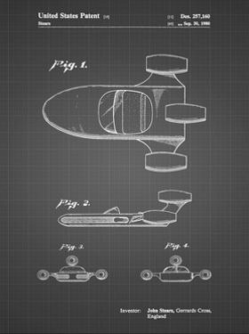 PP650-Black Grid Star Wars X-34 Landspeeder Patent Poster by Cole Borders