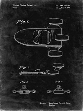 PP650-Black Grunge Star Wars X-34 Landspeeder Patent Poster by Cole Borders