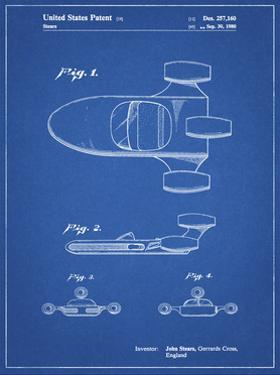 PP650-Blueprint Star Wars X-34 Landspeeder Patent Poster by Cole Borders