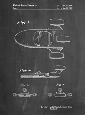PP650-Chalkboard Star Wars X-34 Landspeeder Patent Poster by Cole Borders