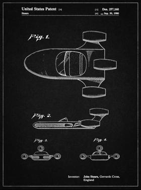 PP650-Vintage Black Star Wars X-34 Landspeeder Patent Poster by Cole Borders