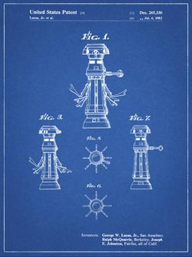 PP665-Blueprint Star Wars FX-7 Medical Droid Patent Poster by Cole Borders