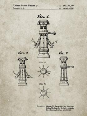 PP665-Sandstone Star Wars FX-7 Medical Droid Patent Poster by Cole Borders